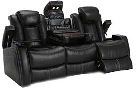 Lane Omega Leather Multimedia Power Recliner Sofa