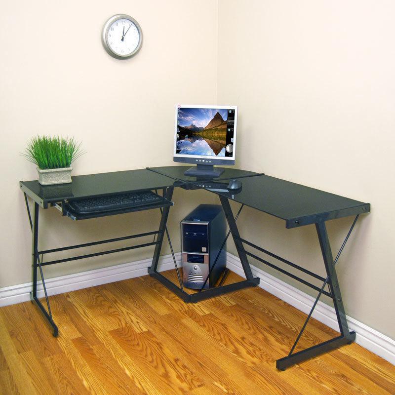 Walker Edison Furniture Soreno Metal Corner Desk