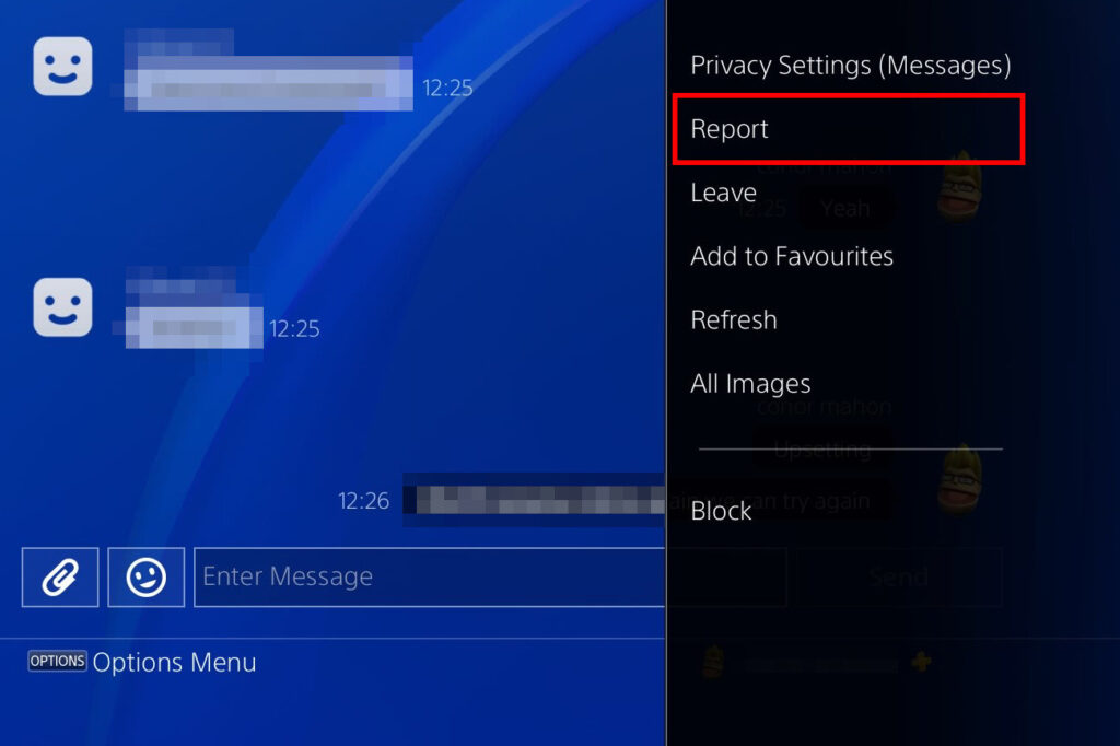 how to report someone on psn
