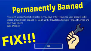 unbanned from PSN
