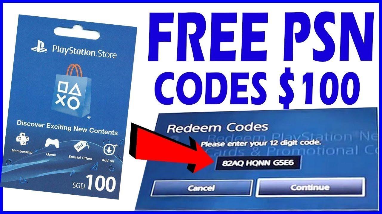 unused PSN codes list