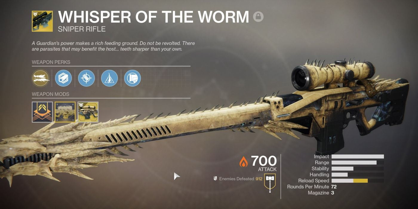 Unlock Whisper of the Worm in Destiny 2