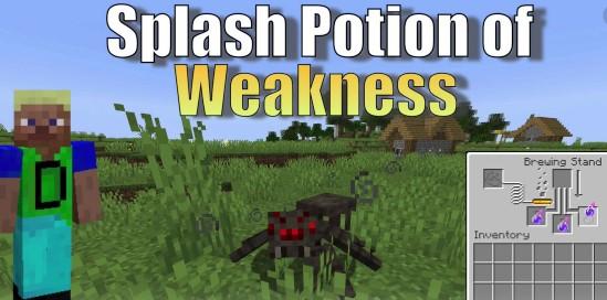 Splash Potion of Weakness in Minecraft