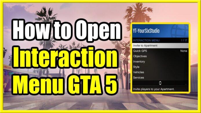 Open Interaction Menu GTA 5 PS4